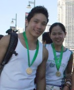 Our fellow runners: Kristan and Daisy Lerios
