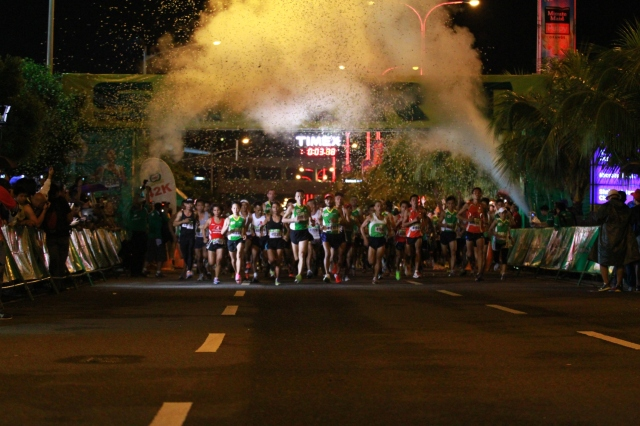 38,429 runners participated in the 36th National MILO Marathon Manila Elims Sunday, shattering last year's 35,000 turnout.