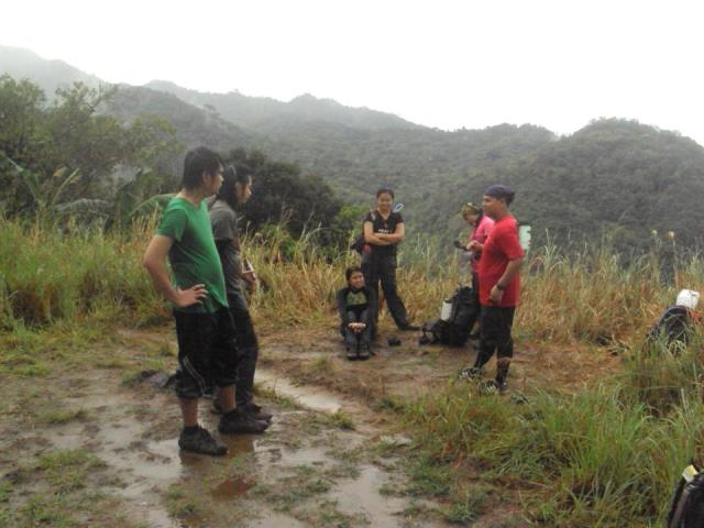 Take 5 after trail running from Papaya River going down