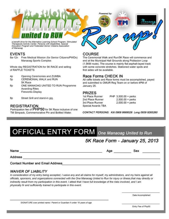 1 Manaoag United to Run REV UP 2013 Registration Form