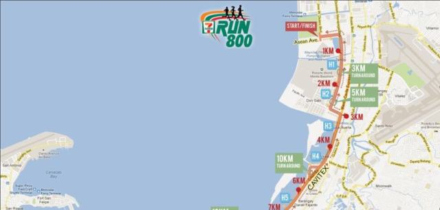 7-Eleven 800 Run Bigger, more detailed Race Map