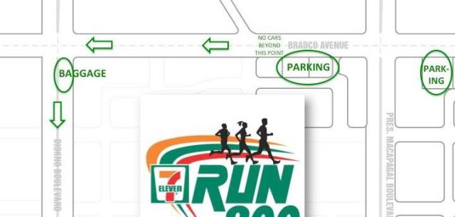 7 Eleven 800 Run Parking and Baggage Info