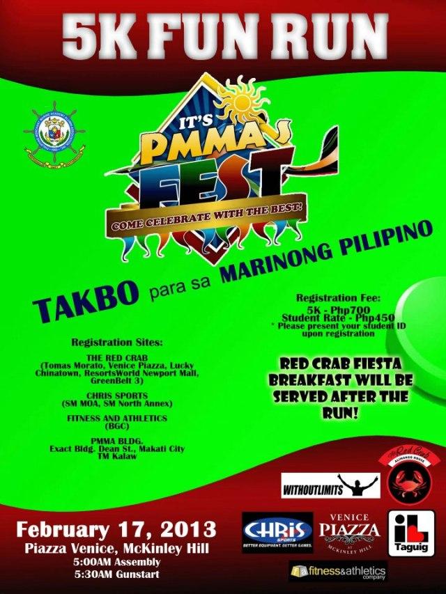 PMMA FEST 2013 Takbo Para sa Marino 5K Fun Run