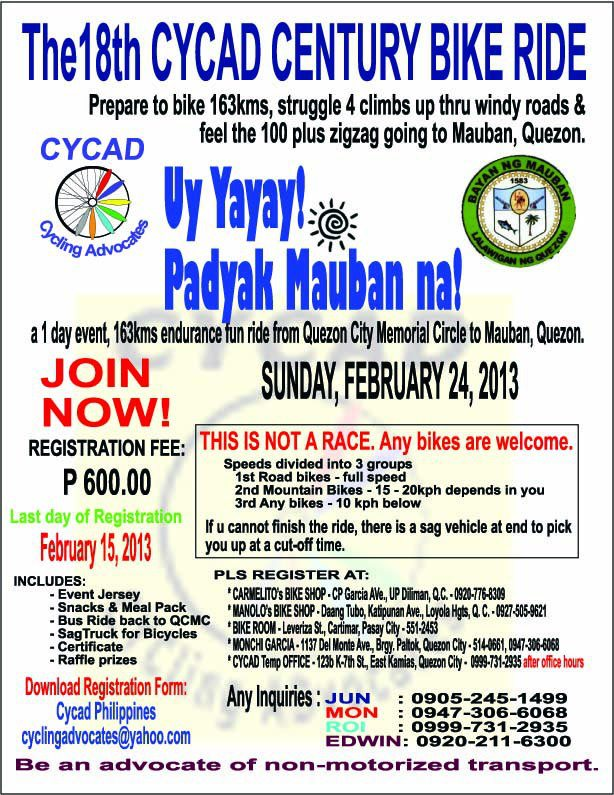 The 18th Cycad Century Bike Ride
