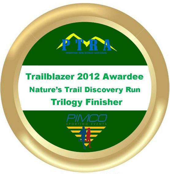Trailblazer 2012 Awardee Nature's Trail Discovery Run Trilogy Finisher
