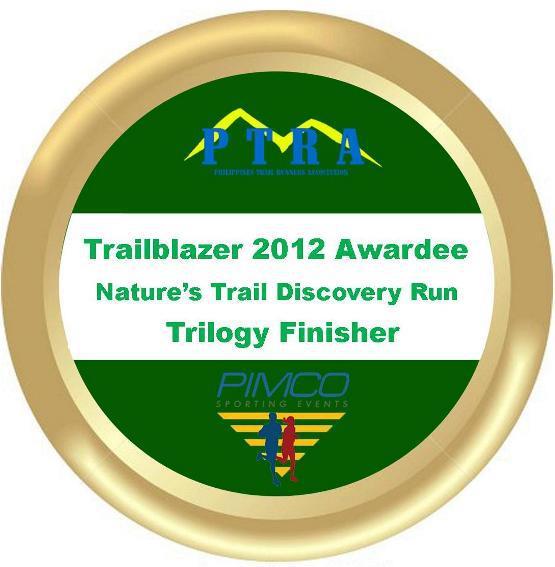 Trailblazer 2012 Awardee Nature's Trail Discovery Run Trilogy Finisher