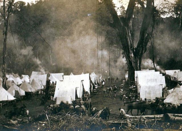 US Army Camp at Mataling Falls, Mindanao
