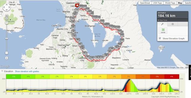 1st Long Ride - The Laguna Loop (Map View)