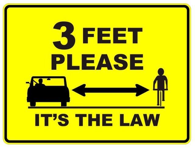 3 Feet Please, It's the Law