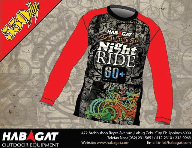 Habagat Earth Hour Ride 2013 Jersey