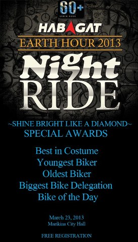 Habagat Earth Hour Ride 2013 Special Awards