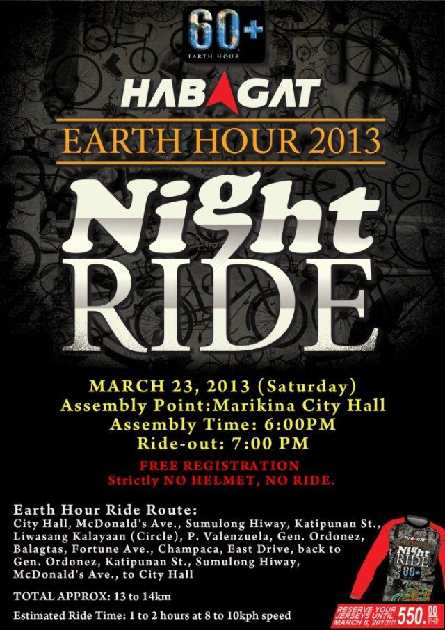 Habagat Earth Hour Ride 2013