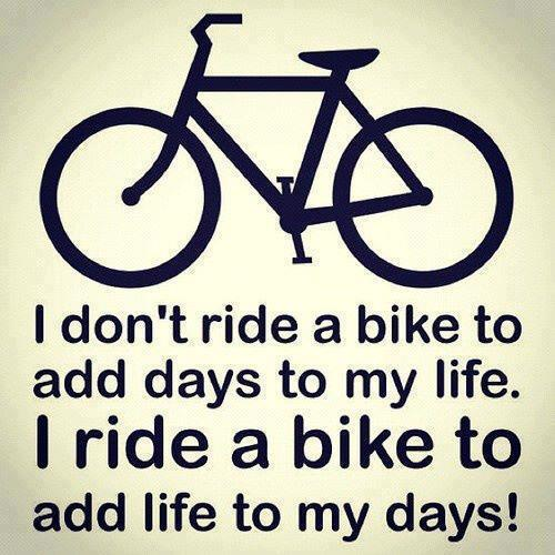 I don't ride a bike