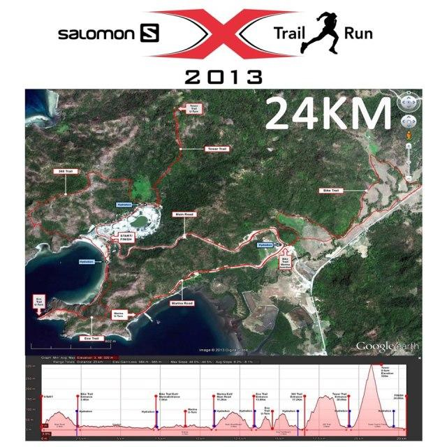 Salomon X-Trail Pilipinas 2013 24K Route Elevation