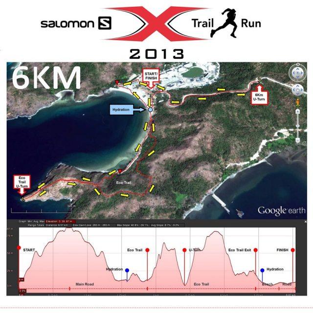 Salomon X-Trail Pilipinas 2013 6K Route Elevation
