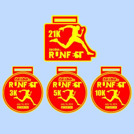 Takbo.ph Run Fest 2013 Finishers Medal