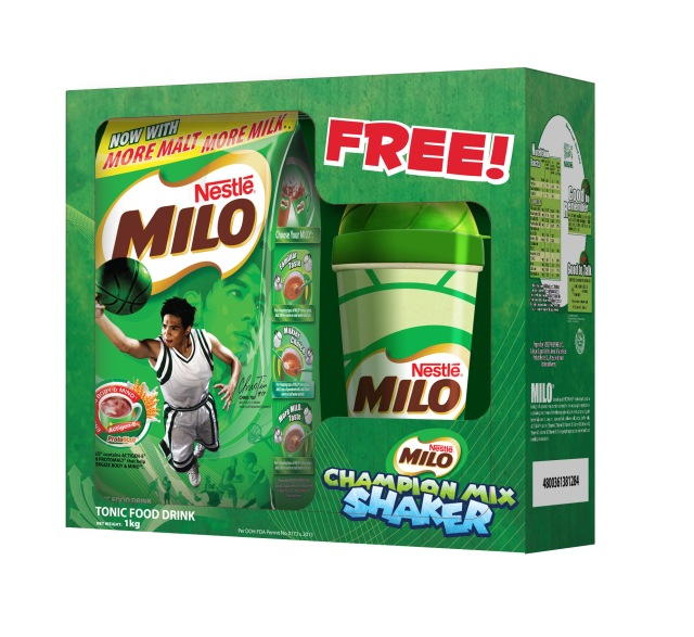04 MILO is offering a special consumer promotion that grants shoppers 1 free MILO Champion Mix Shaker for every 1-kilo MILO pack they purchase.