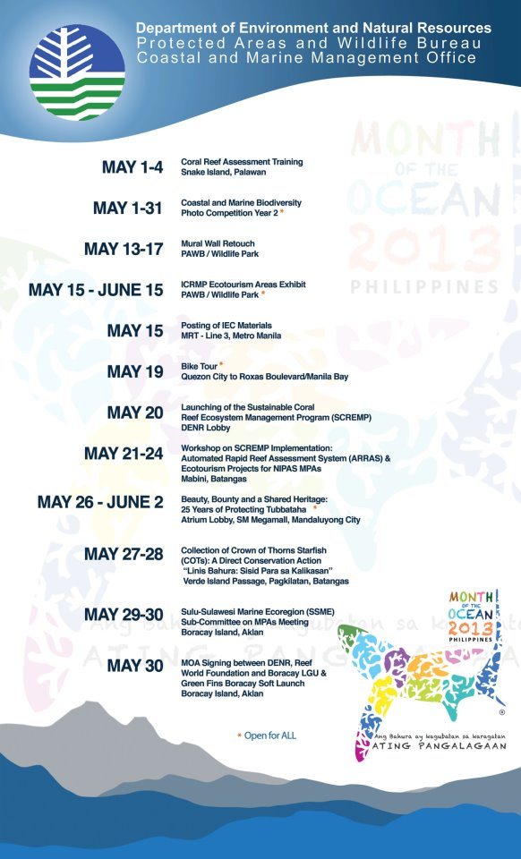 DENR - Month of the Ocean Activities.