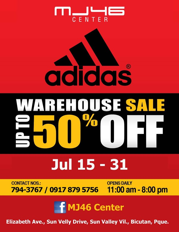 Adidas Warehouse Sale 2013