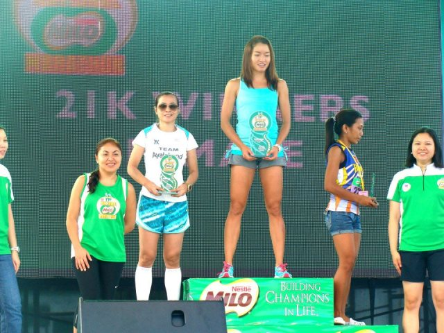 Monica Torres 1st Place 21K - 37th Milo Marathon Manila Elims