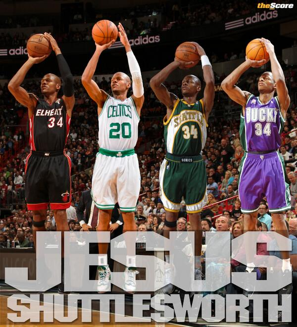 Ray Allen is Jesus Shuttlesworth