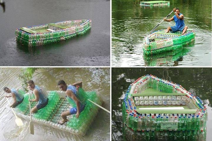 Как сделать лодку из одной пластиковой бутылки своими руками