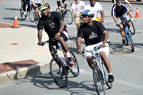 Chris Paul on Bike