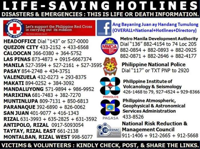 Life Saving Hotlines