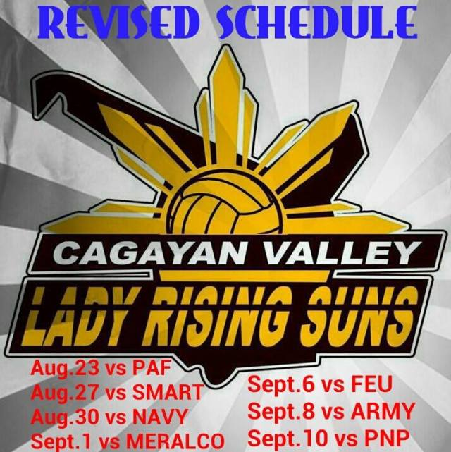 Shakey's V-League Schedule of Games Team Cagayan
