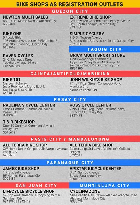Bike Shops as Registration Outlets