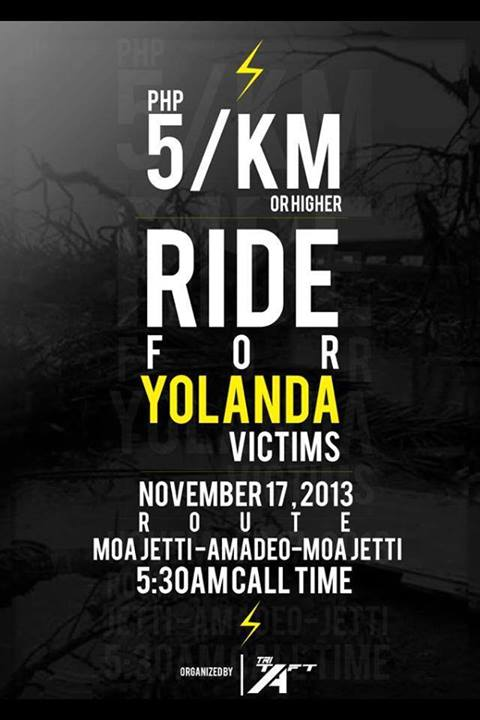 5KM Ride or Higher for Yolanda Victims