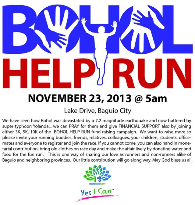 KLK_Bohol Help Run 2013 poster