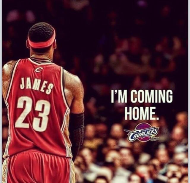 Lebron James is coming home.