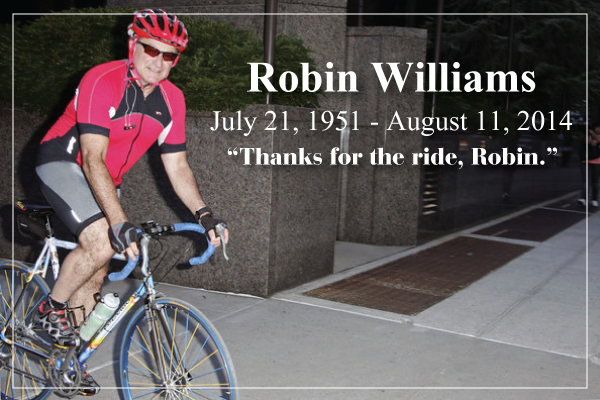 Robin Williams as a weekend cyclist