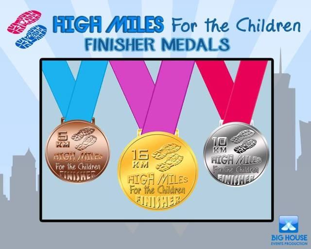 High Miles for the Children Finishers Medal - Kalongkong Hiker