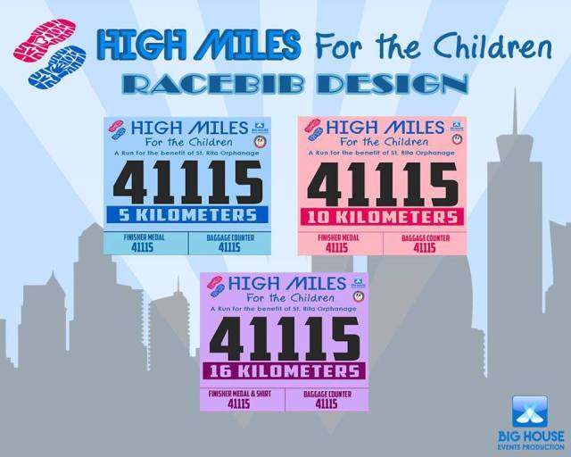 High Miles for the Children Race Bib Design - Kalongkong Hiker