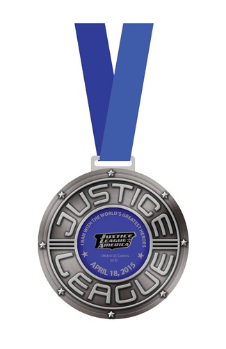 World Of DC All Star Fun Run Finishers Medal - Kalongkong Hiker