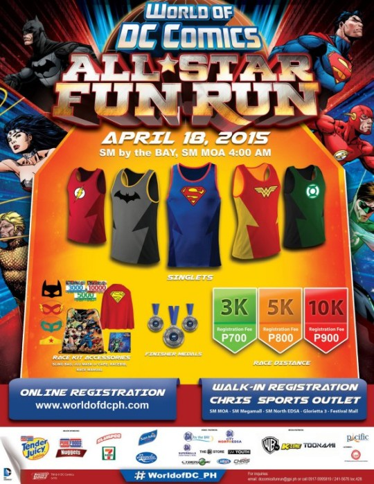 World Of DC All Star Fun Run Poster - Kalongkong Hiker