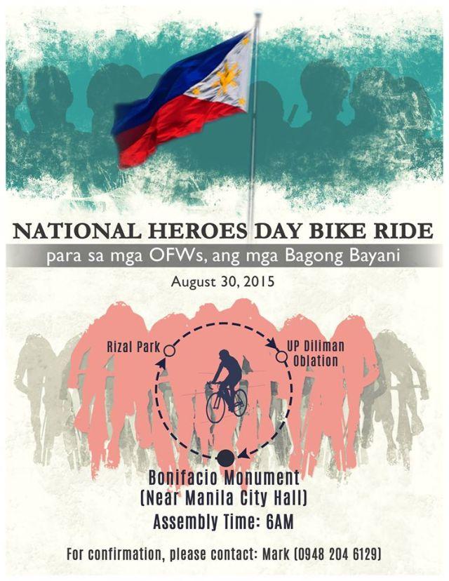 National Heroes Day Bike Ride - Kalongkong Hiker